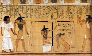 Representation of the Universal law of Karma in ancient Egypt