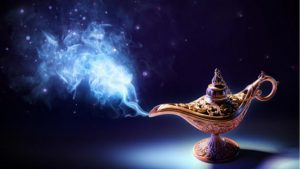 The Trapped Genie and the Wonderful Lamp
